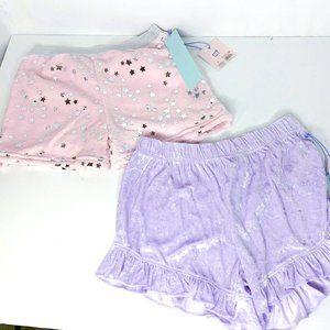 NWT Set of 2 Girls Pink Purple Pajama Shorts